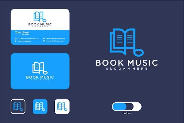 음악 책 로고 디자인 및 명함