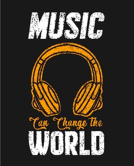Music can change the world t shirt
