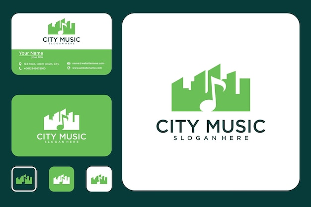 Music city logo design and business card