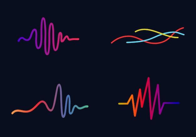 Music concept audio wave  audio technology business symbol