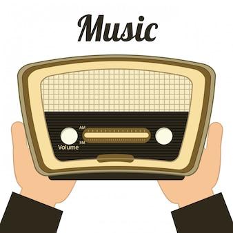 音楽のコンセプト、ベクトルイラスト