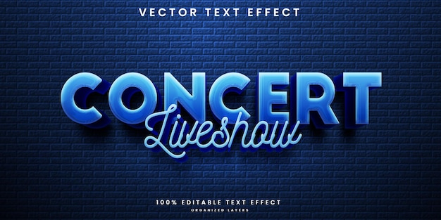 Music concert editable text effect