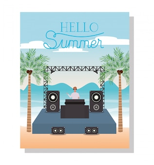 Music concert and hello summer
