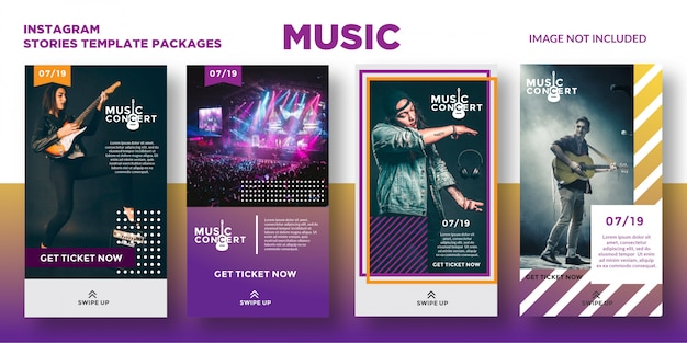 Music concert instagram stories template