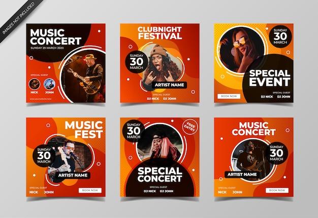 Музыкальный концерт в социальных сетях