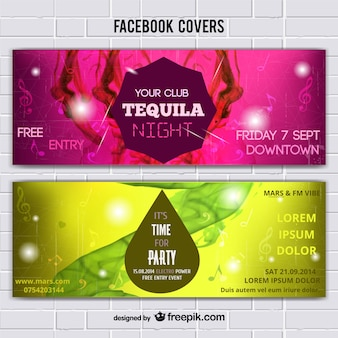 Music covers templates with abstract background