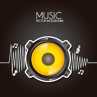Music design over black background vector illustration