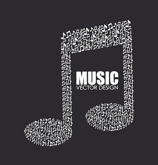 Music design black illustration