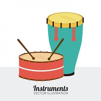 Music design over white background