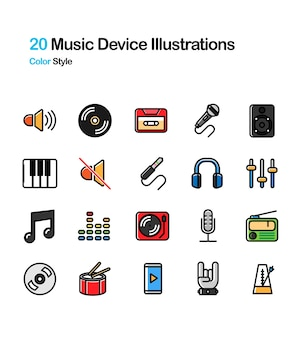Music Device Color Illustration