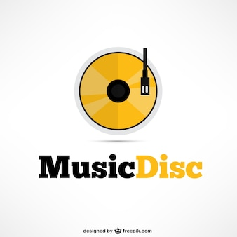 Music disc logo