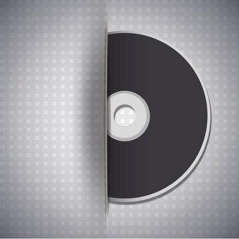 Музыкальный диск на металлическом фоне Бесплатные векторы