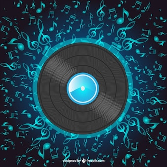Music disc vector