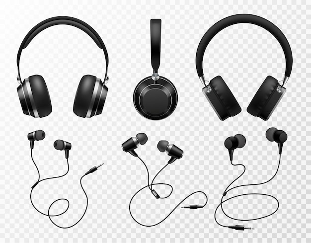 Music earphones illustration