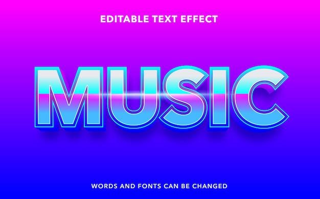 Музыкальный редактируемый текстовый эффект
