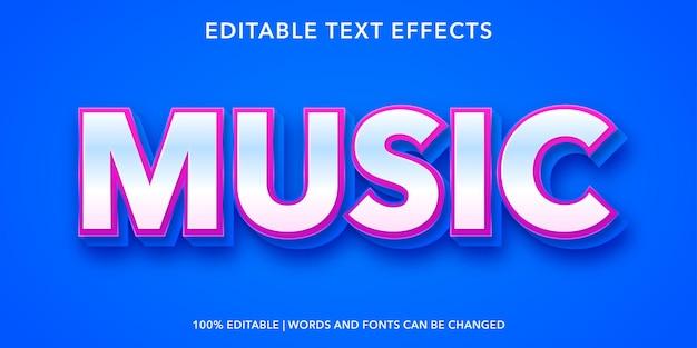 Music editable text effect
