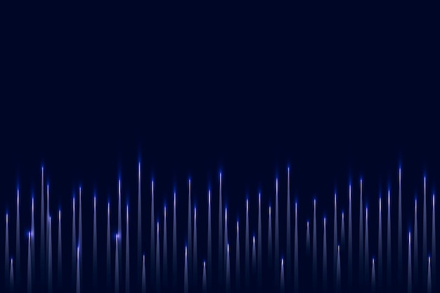 Sfondo blu della tecnologia dell'equalizzatore musicale con onda sonora digitale