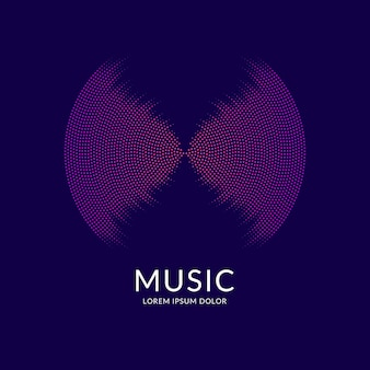Music equalizer. vector abstract background with dynamic waves, line and particles. illustration suitable for design