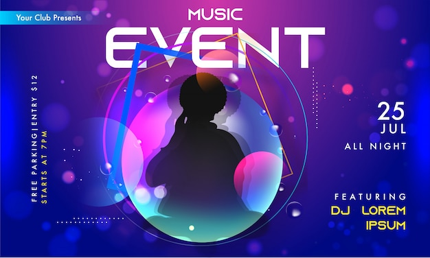 Music event invitation banner