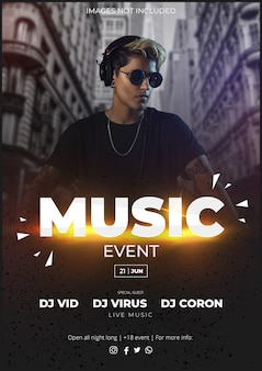 Music event modern poster template