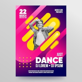 Music event poster 2021 template