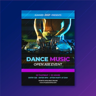 2021テーマの音楽イベントポスター