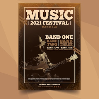 Music event poster with image