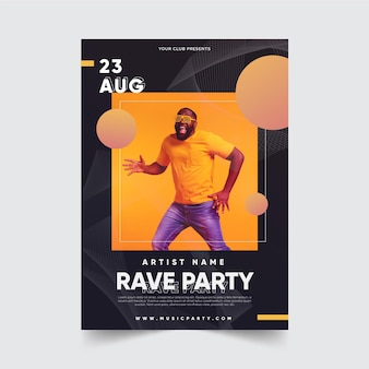 Music event poster with picture