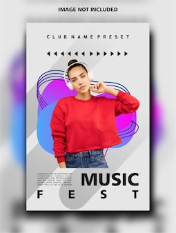 Музыкальный фестиваль вертикальный дизайн шаблон