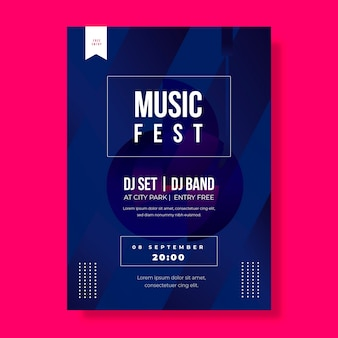 Music fest with djs poster template