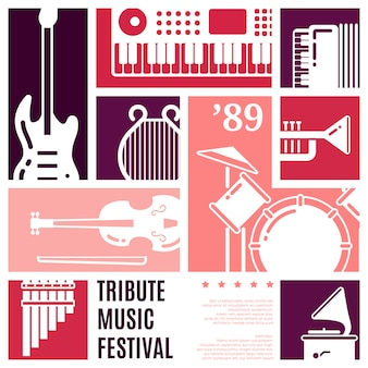 Music festival abstract vector background