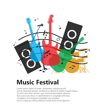 Music festival concept for background
