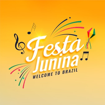Music festival of festa junina