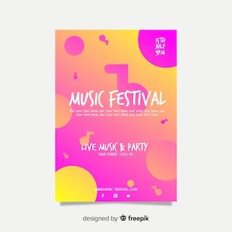 Флаер музыкального фестиваля