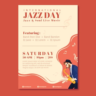 Music festival and international jazz poster