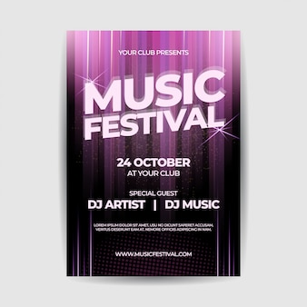 Music festival party flyer poster