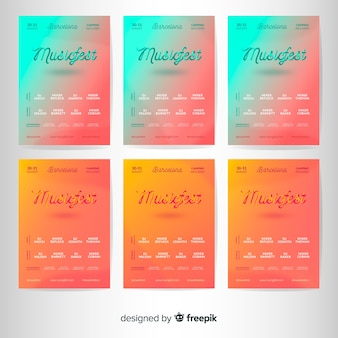 Music festival poster collection