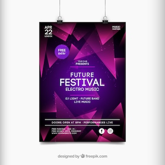 抽象的なスタイルの音楽祭のポスター
