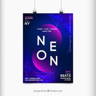 Плакат фестиваля музыки в абстрактном стиле