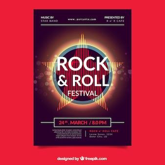 Плакат фестиваля музыки с абстрактными формами