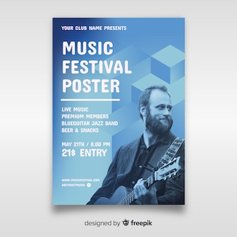 Music festival poster with photo