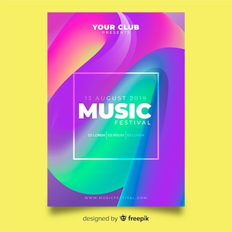 Music festival poster