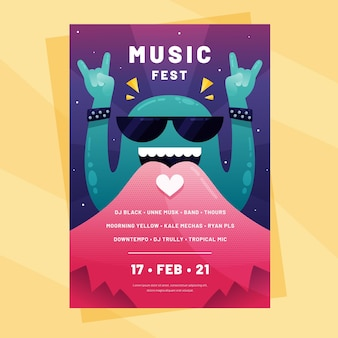 Афиша музыкального фестиваля
