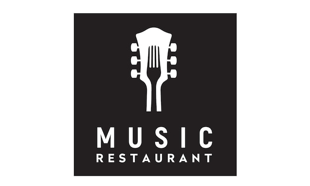 Music and food logo design
