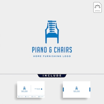 Music furniture logo design