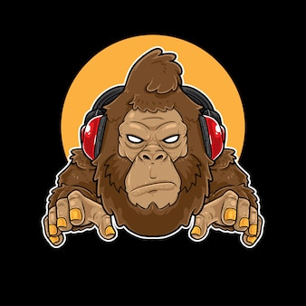 Горилла music gaming mascot