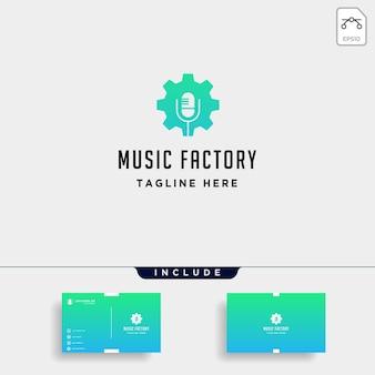 음악 기어 로고 디자인 스튜디오 헤드폰 마이크 카세트 벡터 모노 라인 아이콘