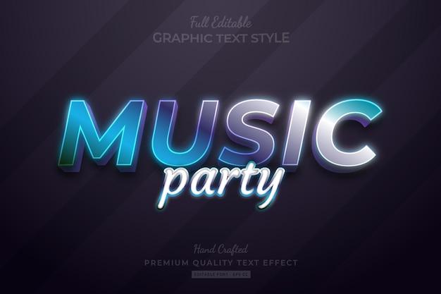 Music gradient editable premium text effect