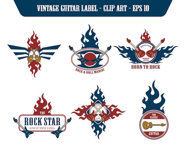 Music guitar label sticker