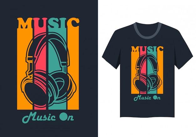 Music headphone t shirt